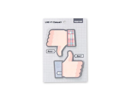 Thumb Up Series Sticky Notes Plaid Pattern