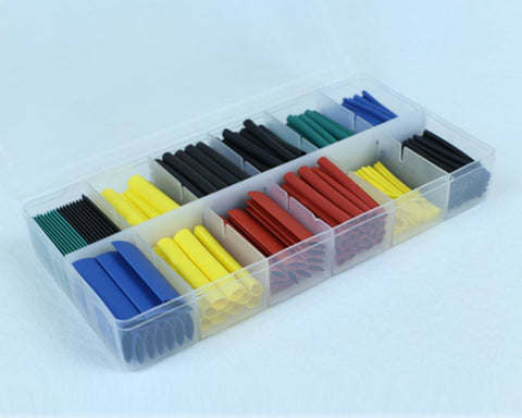 280 Pcs Heat Shrink Tubing Cable Wrap Kit with Storage Box