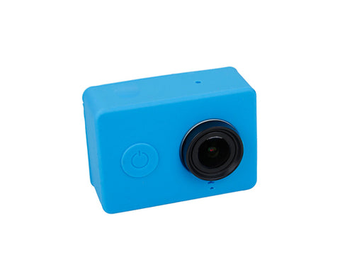 Protective Silicone Case Cover for Xiaomi Yi Action Camera - Blue