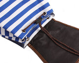 Sailor Stripes Drawstring Rucksack - Blue