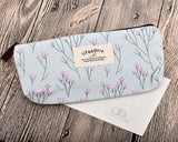 Floral Canvas Pen and Pencil Case