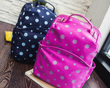 Dot Print Casual Style School Backpack - Pink