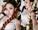 Heat Resistant Long Braided Ponytail Extension - Light Gold