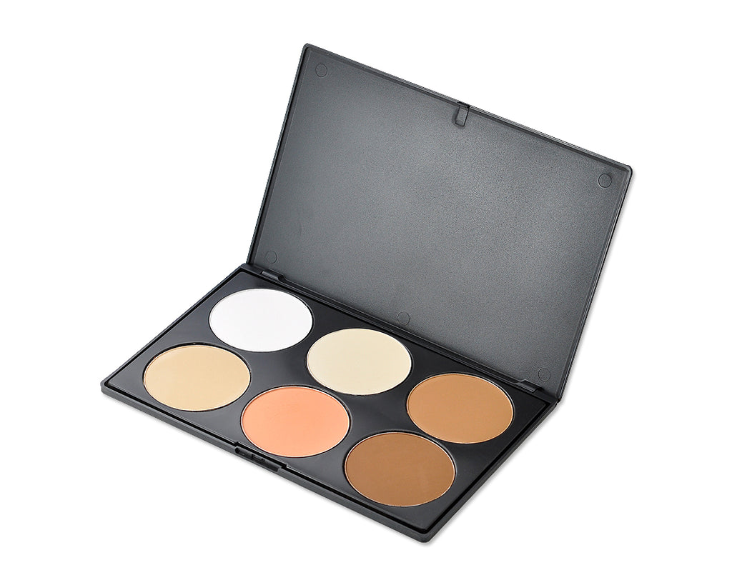 6 Colors Makeup Face Concealer Contouring Powder Palette