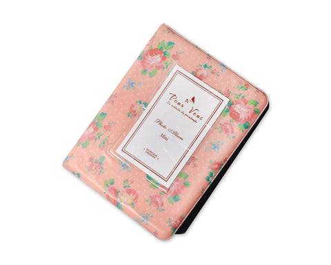 Retro Rose Photo Album for Fujifilm Instax Mini Films - Pink