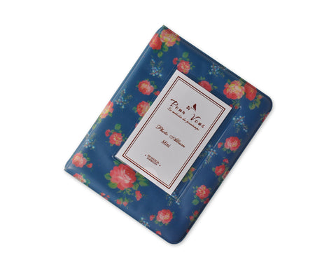 Retro Rose Photo Album for Fujifilm Instax Mini Films - Blue