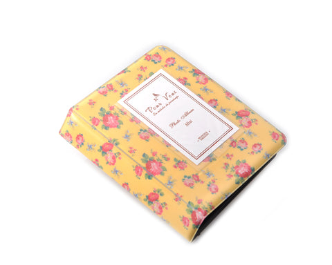 Retro Rose Photo Album for Fujifilm Instax Mini Films - Yellow