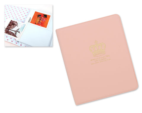 Golden Crown Photo Album for Fujifilm Instax Mini Films - Pink