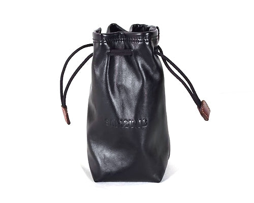 Multi-Purpose PU Leather Draw String Pouch
