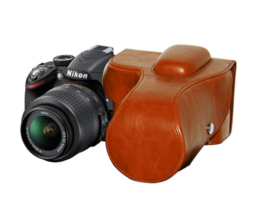 Retro Nikon D3300 Camera Leather Case
