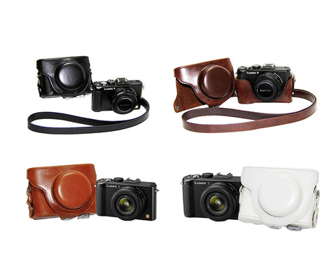 Retro Panasonic Lumix DMC-LX7 Camera Leather Case