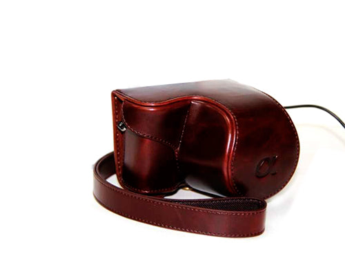 Retro Sony Alpha a5100 Camera Leather Case