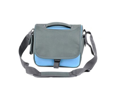 Simple Nylon Camera Shoulder Bag for DSLR SLR Camera - Blue