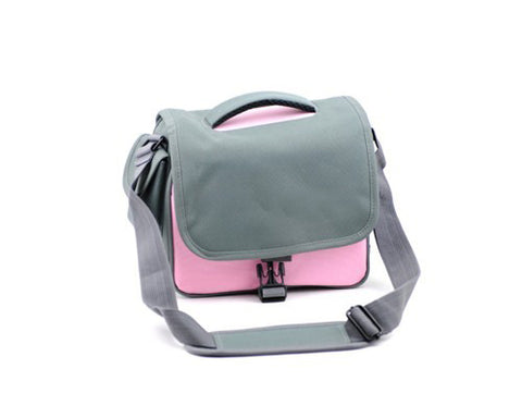 Simple Nylon Camera Shoulder Bag for DSLR SLR Camera - Pink