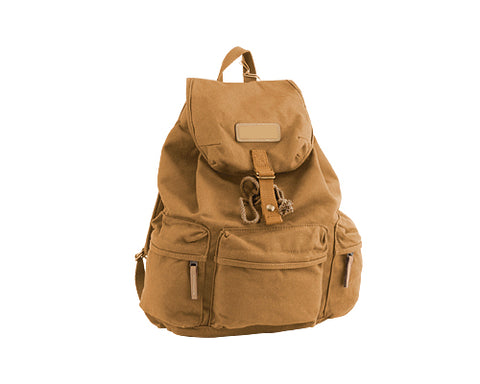 Retro Canvas DSLR Camera Rucksack with Removable Partition - Khaki