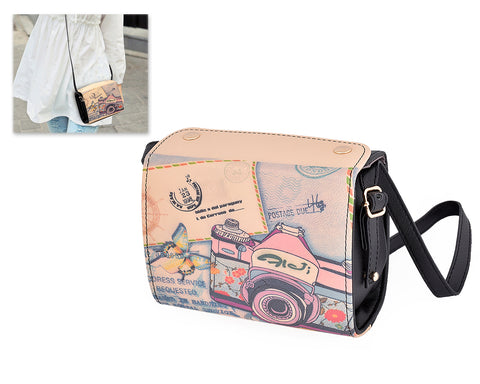 Retro PU Leather Camera Bag for Fujifilm Instax Mini Cameras - Black