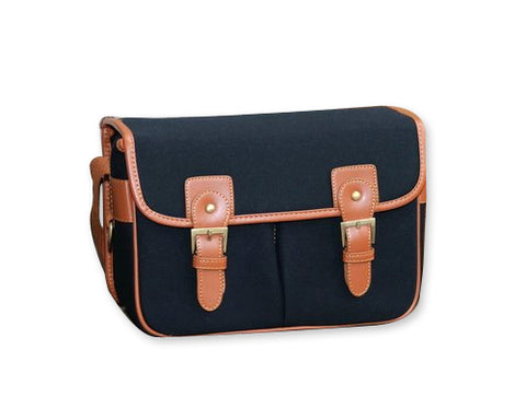 Retro Shoulder Canvas Bag for DSLR SLR Cameras - Black