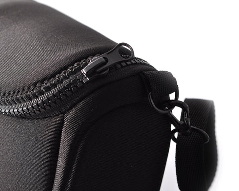 Soft Mirrorless Camera Bag with Detatchable Battery Pouch - Black