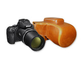 Retro Nikon Coolpix P900 Camera Leather Case