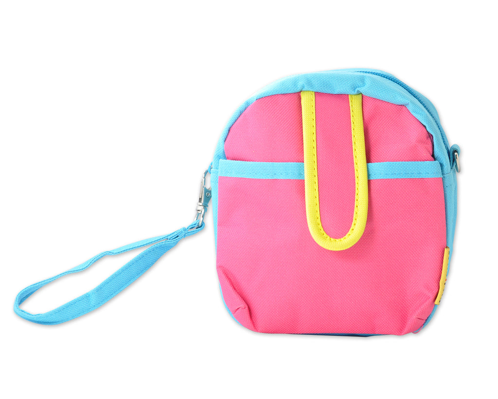 Colorful Zipper Camera Pouch for Fujifilm Instax Mini - Pink & Blue