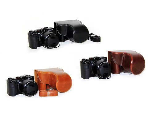 Retro Canon Powershot G3 X Camera Leather Case