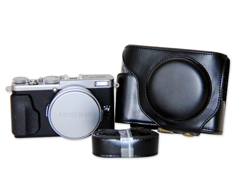 Retro Fujifilm X70 Leather Case with Camera Strap