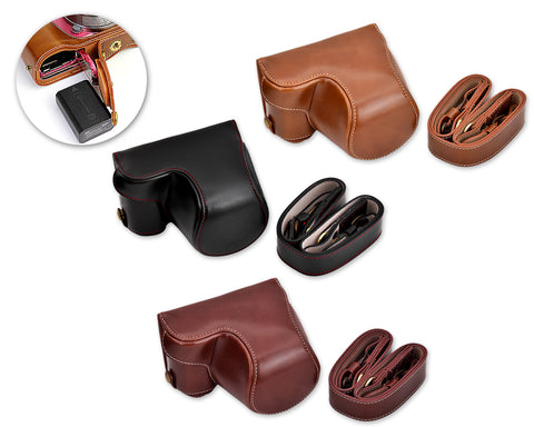 Premium Series Sony Alpha a5100 Camera Leather Case