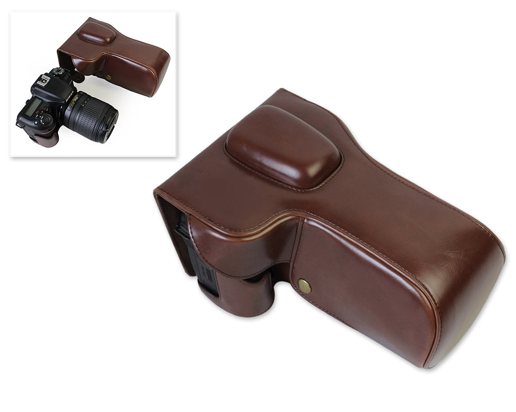 Retro Nikon D7500 Camera Leather Case
