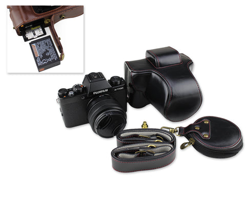 Premium Series Fujifilm X-T100 Camera Leather Case
