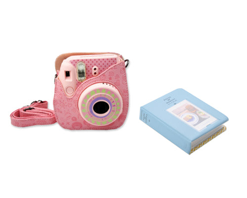 Fujifilm Bundle Set Mini Case/Album for Fuji Instax Mini 8 - Blue