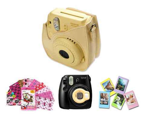 Fujifilm Bundle Set Film Sticker / Case for Fuji Instax  Mini 8-Yellow