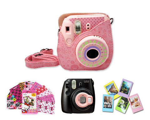 Fujifilm Bundle Set Lens / Cartoon Case for Fuji Instax  Mini 8 - Pink