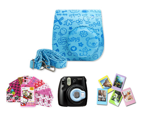 Fujifilm Bundle Set Lens / Cartoon Case for Fuji Instax  Mini 8 - Blue