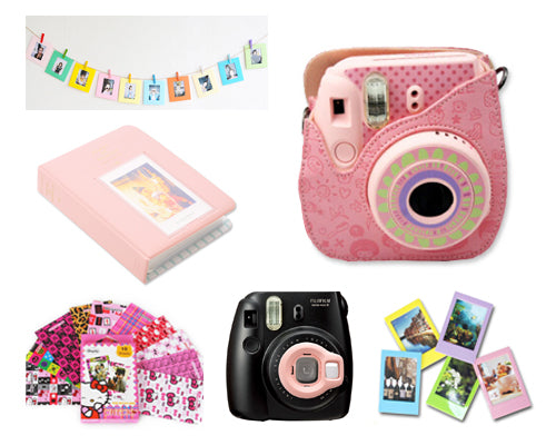 Fujifilm Bundle Set Frame/ Cartoon Case for Fuji Instax  Mini 8 - Pink