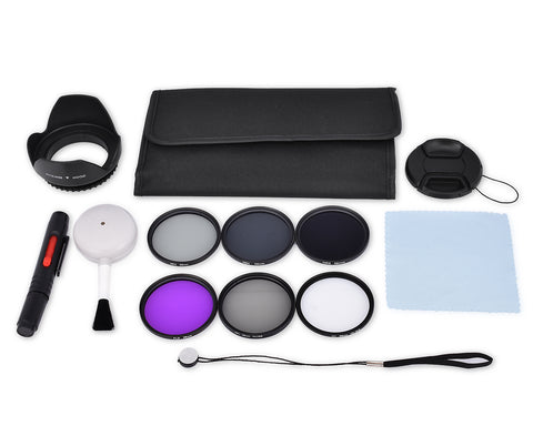 58mm Lens Filter Set with Carrying Case for DSLR Camera Lens