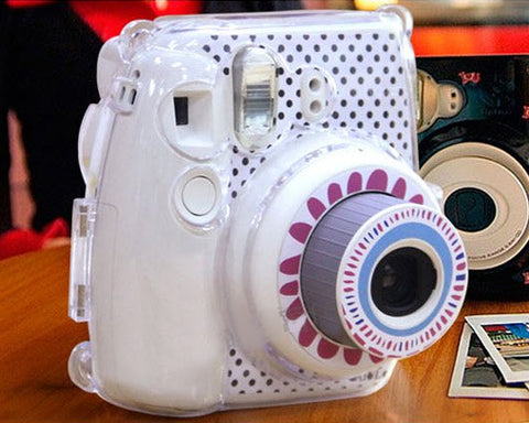 Floral Camera Sticker for Fujifilm Instax mini 8 - White