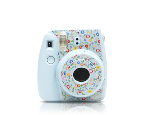 Garden Camera Sticker for Fujifilm Instax mini 8 - Ice Blue