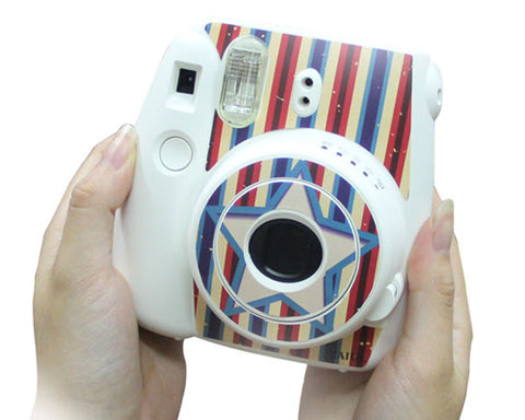 Stripe Camera Sticker for Fujifilm Instax mini 8 - Ice Blue