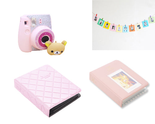 Fujifilm Bundle Set Sticker/Photo Albums for Fuji Instax Mini 8 - Pink