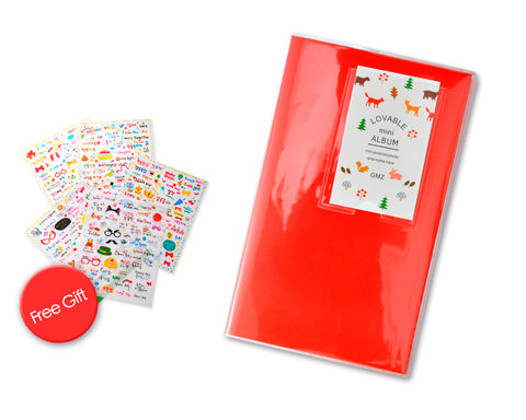Lovely Mini Photo Album for Fujifilm Instax Mini Films - Red