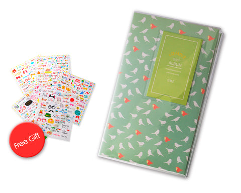Lovely Mini Photo Album for Fujifilm Instax Mini Films - Bird