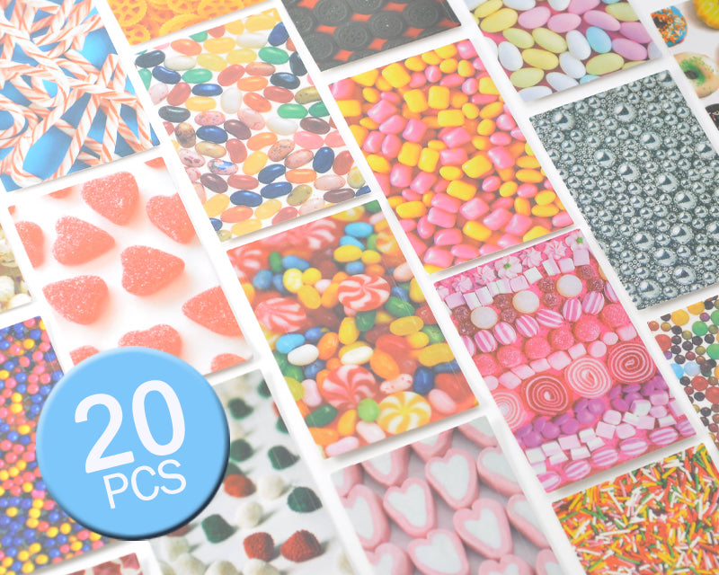 20 Sheets Fujifilm Instax Mini Films Decor Sticker Borders - Candy