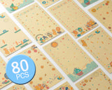 80 Sheets Fujifilm Instax Mini Films Decor Sticker Borders - Cartoon