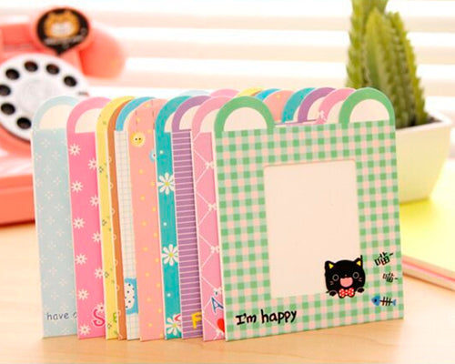 10Pcs Animal Paper Photo Frame Set for Fuji Instax Polaroid Mini Films