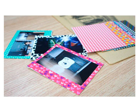 Color Fujifilm Instax Wide 210/ 300/ 200 Films Decor Sticker Borders-B
