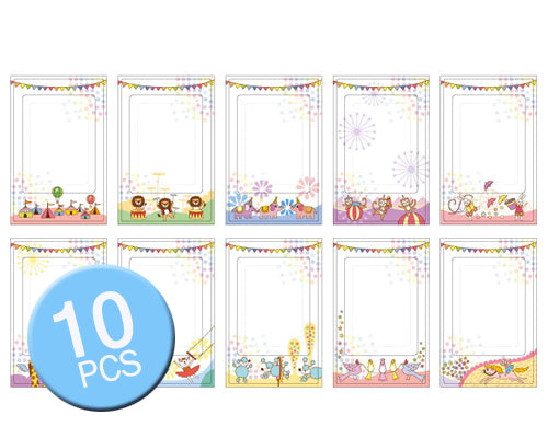 10 Pcs Photo Sticker Borders for Fujifilm Instax Mini Films - Animal