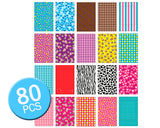 80Pcs Photo Sticker Borders for Fujifilm Instax Mini Films - Colorful