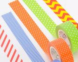 10 Pcs 1.5 cm Japanese Pattern Craft Decor Paper Washi Masking Tape