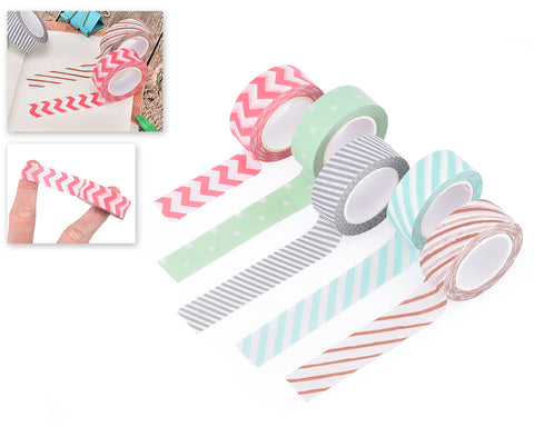 5 Pcs Washi Masking Tape Craft Decoration