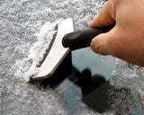 Stainless Steel Car Snow Scraper Emergency Shovel with Curved Handle